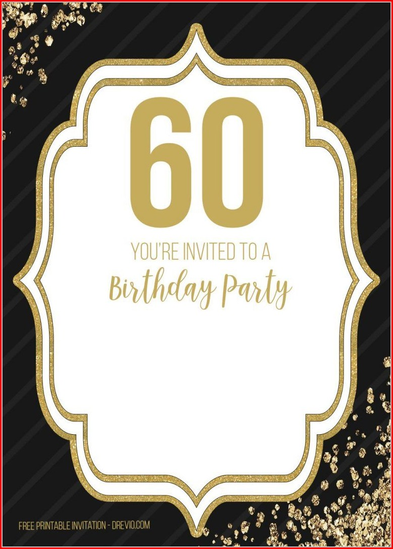 Downloadable 60th Birthday Invitation Templates