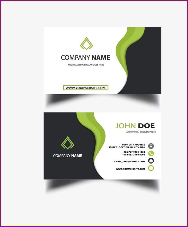 Downloadable Blank Business Card Template Png