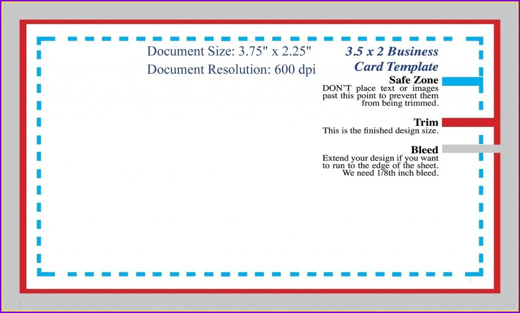 Downloadable Blank Business Card Template Word