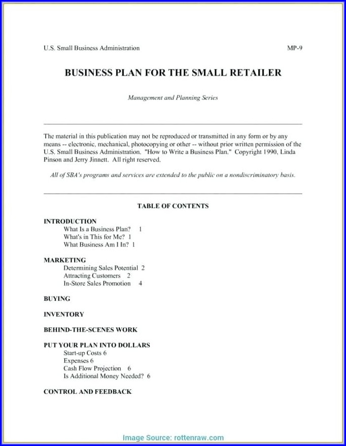 Downloadable Business Plan Proposal Template