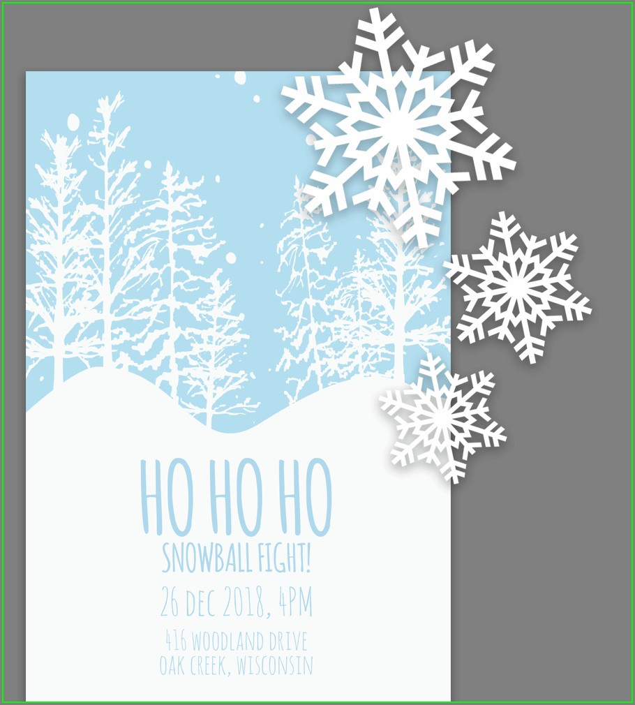 Downloadable Christmas Dinner Invitation Template Free