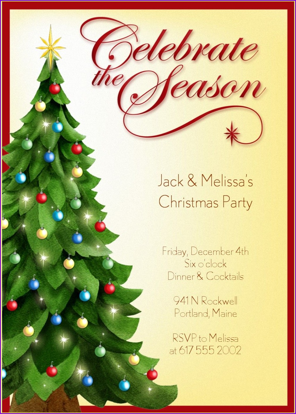 Downloadable Christmas Party Invites Templates