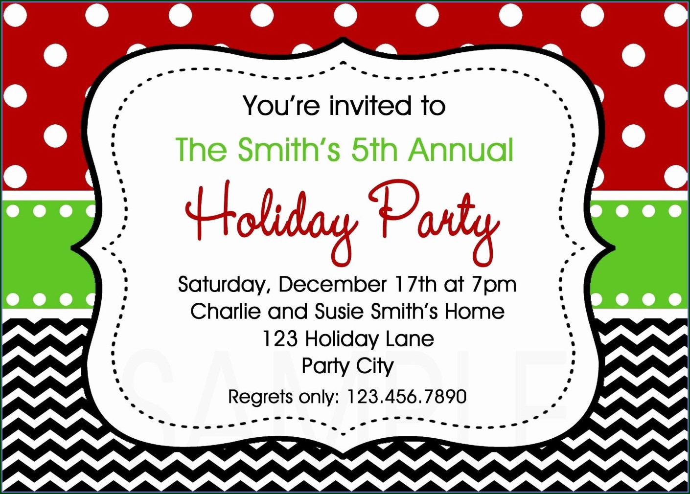 Downloadable Free Christmas Party Invitation Templates Word
