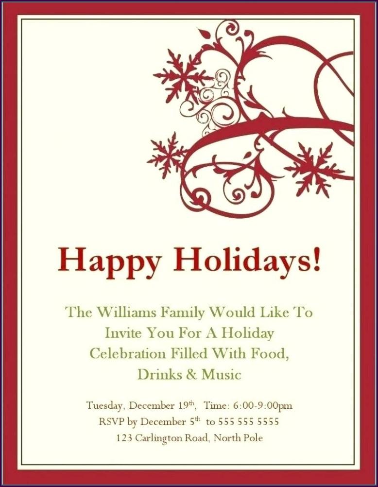 Downloadable Free Printable Christmas Invitation Templates