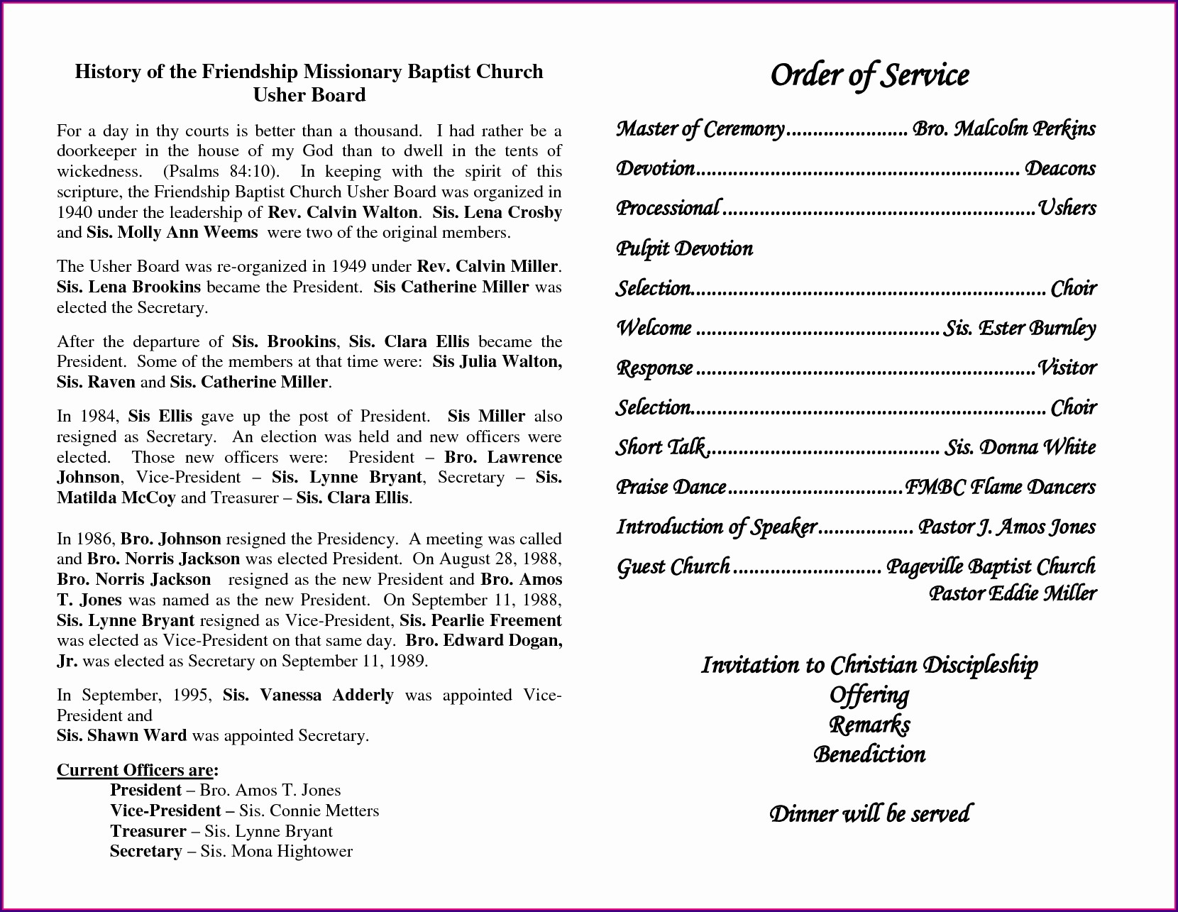 Downloadable Funeral Program Template Free