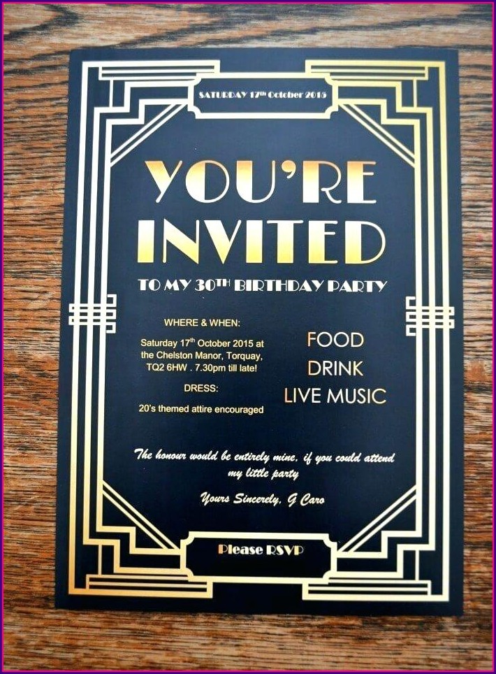 Downloadable Great Gatsby Party Invitation Template Free