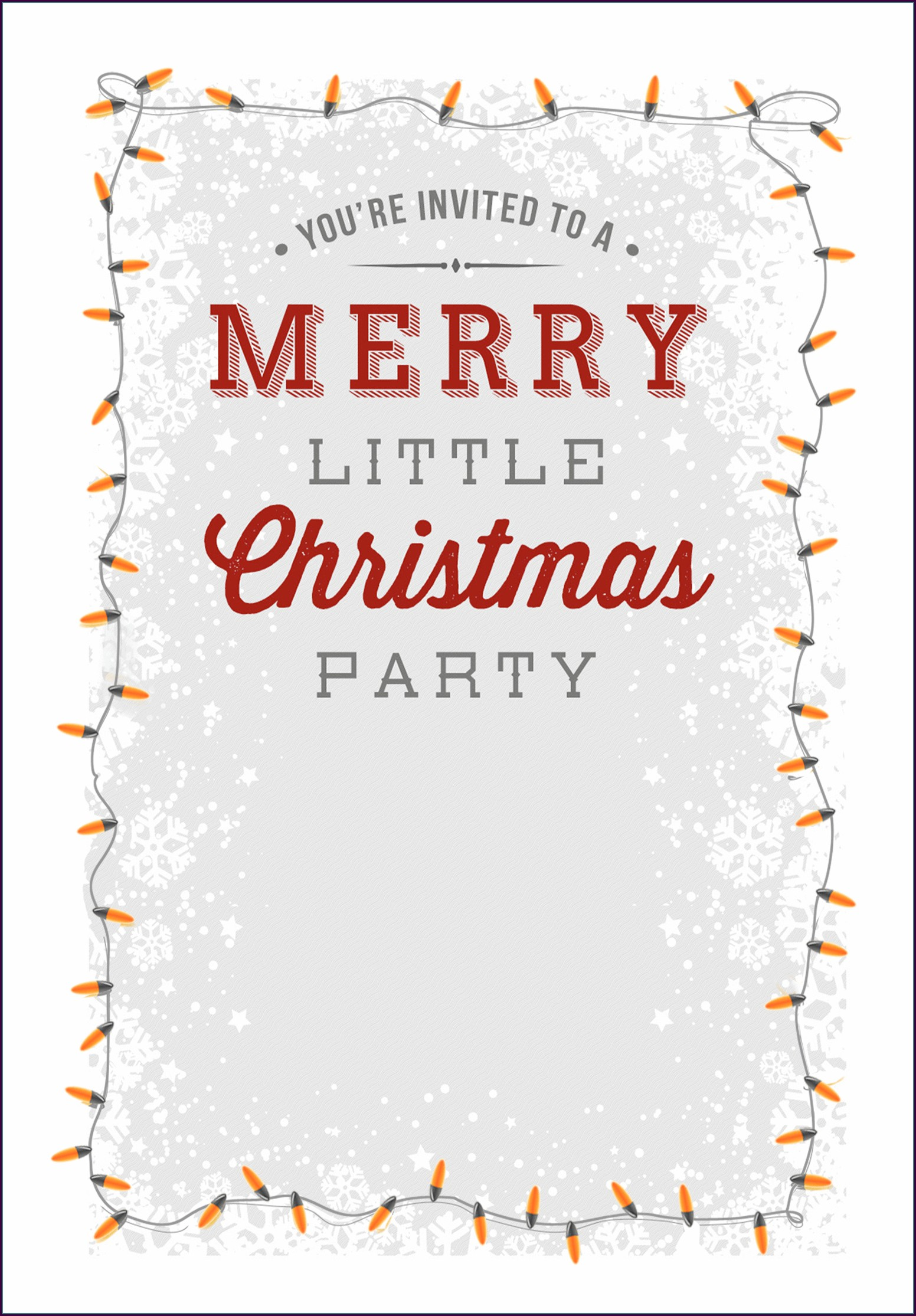Downloadable Holiday Party Email Invitation Template