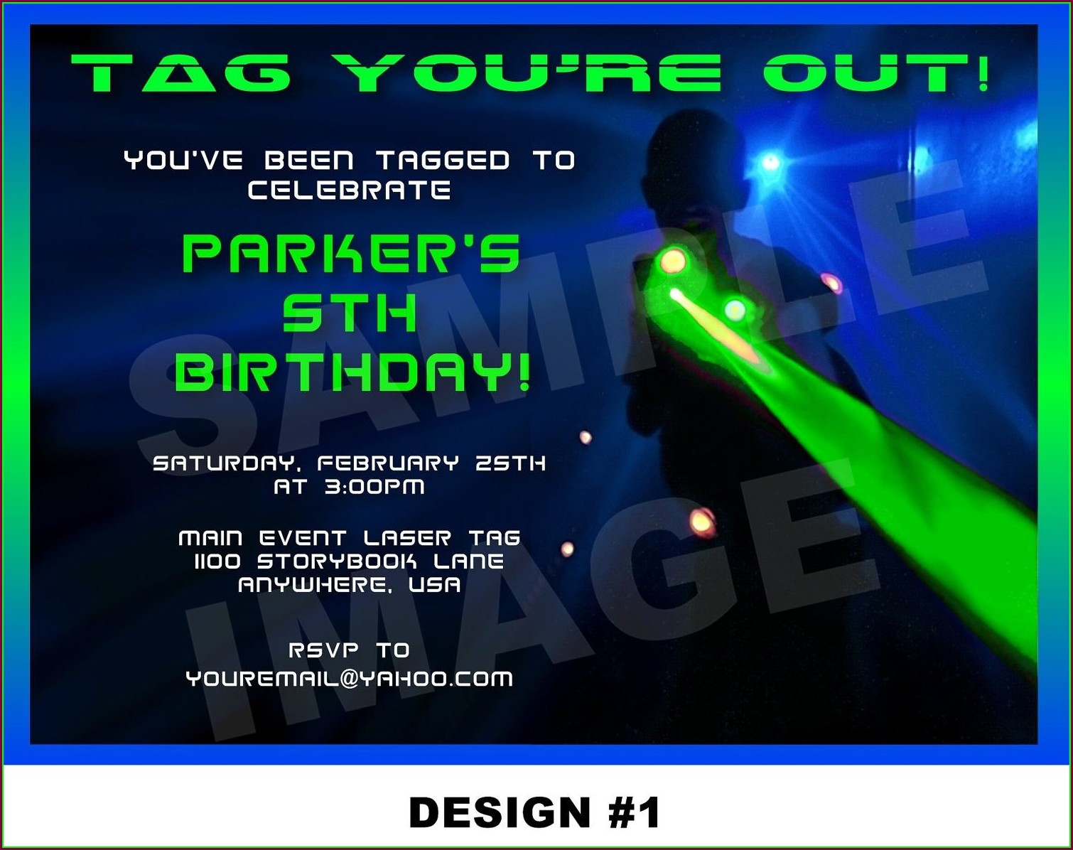 Downloadable Laser Tag Party Invitations Template Free