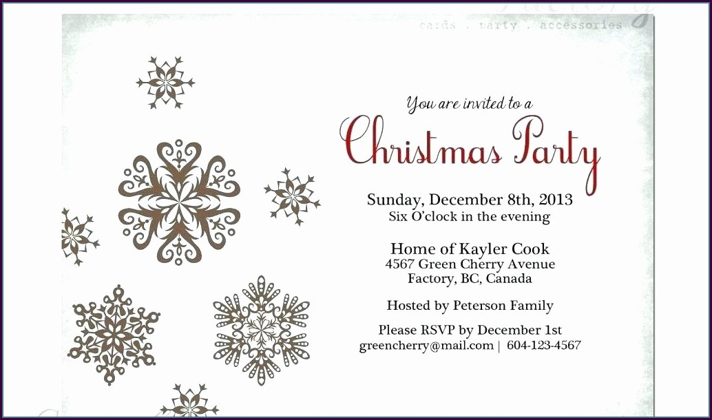 Downloadable Printable Christmas Invitation Templates