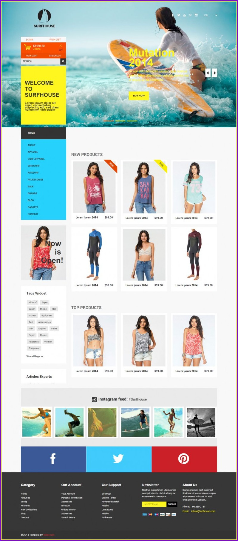 Ecommerce Website Design Templates Free Download