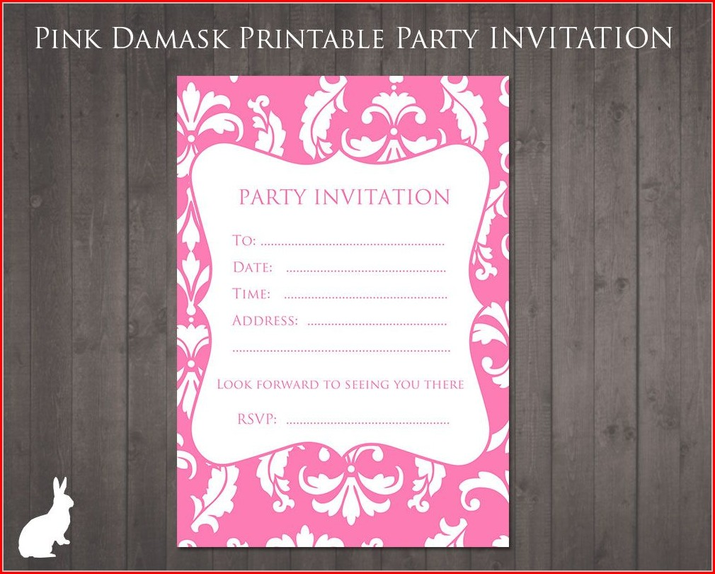Editable 13th Birthday Invitation Templates