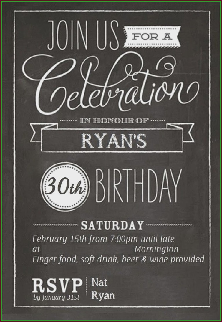 Editable 18th Birthday Invitation Template