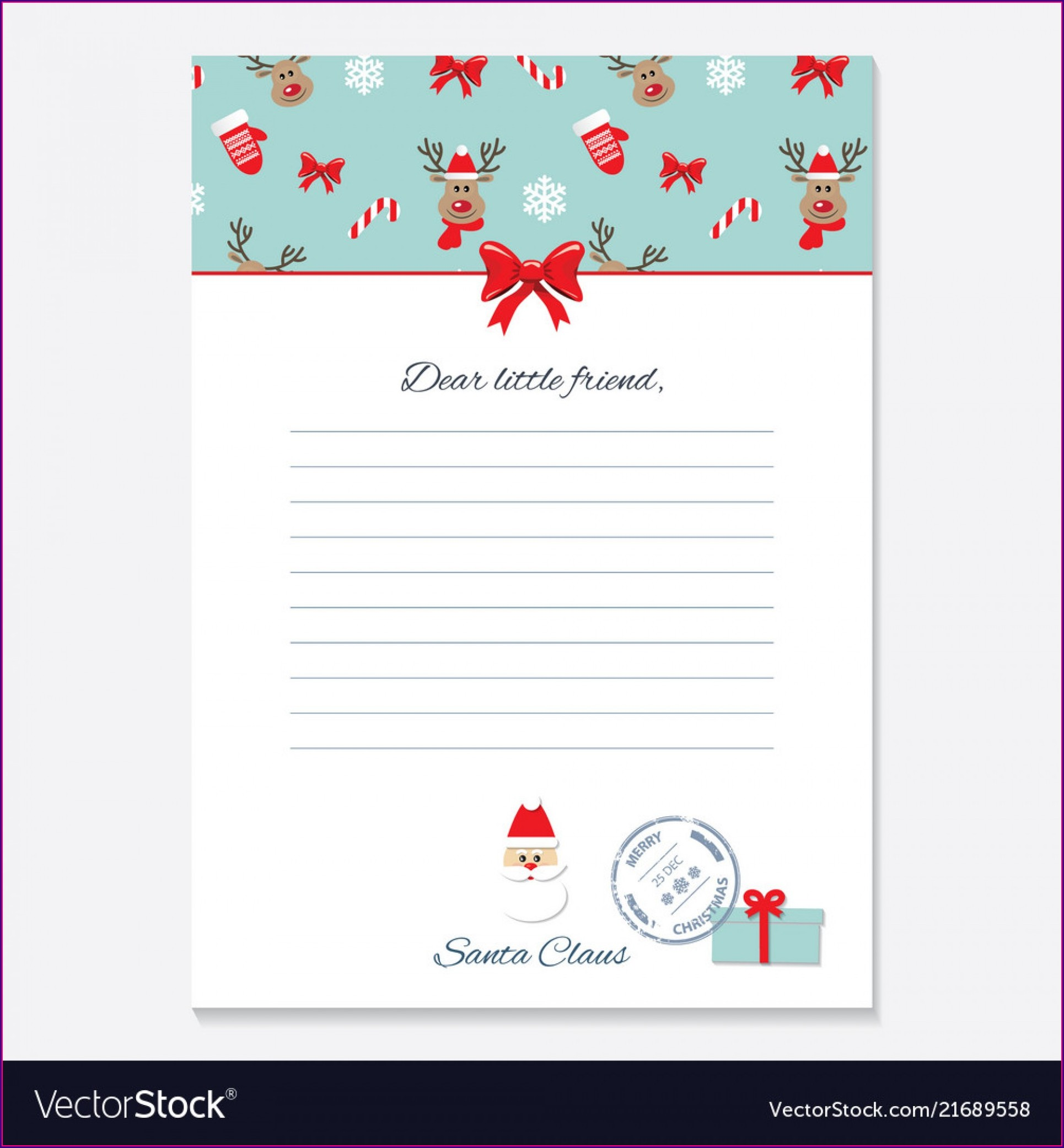 Editable Christmas Letter From Santa Template