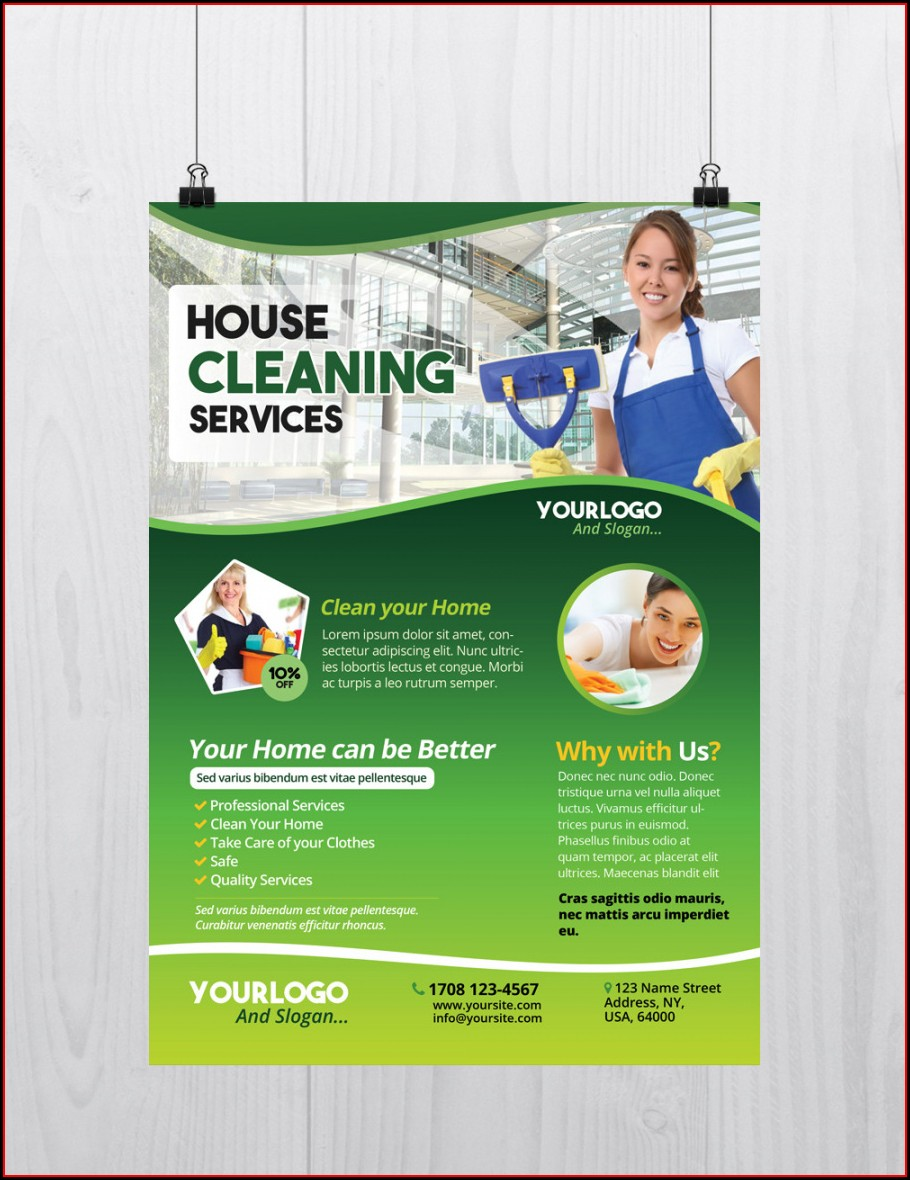 Editable Cleaning Services Flyers Templates Free