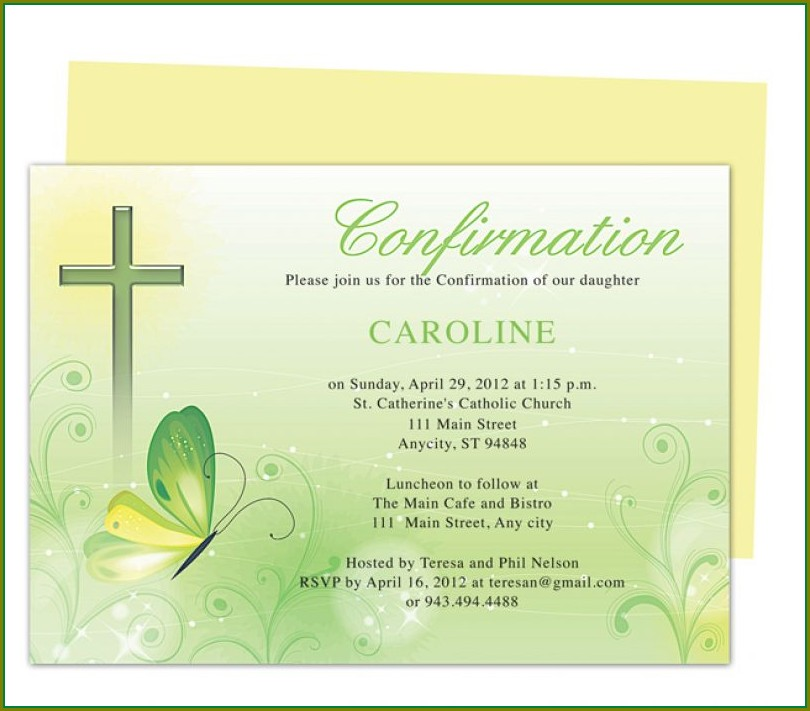 Editable Confirmation Invitation Template Free