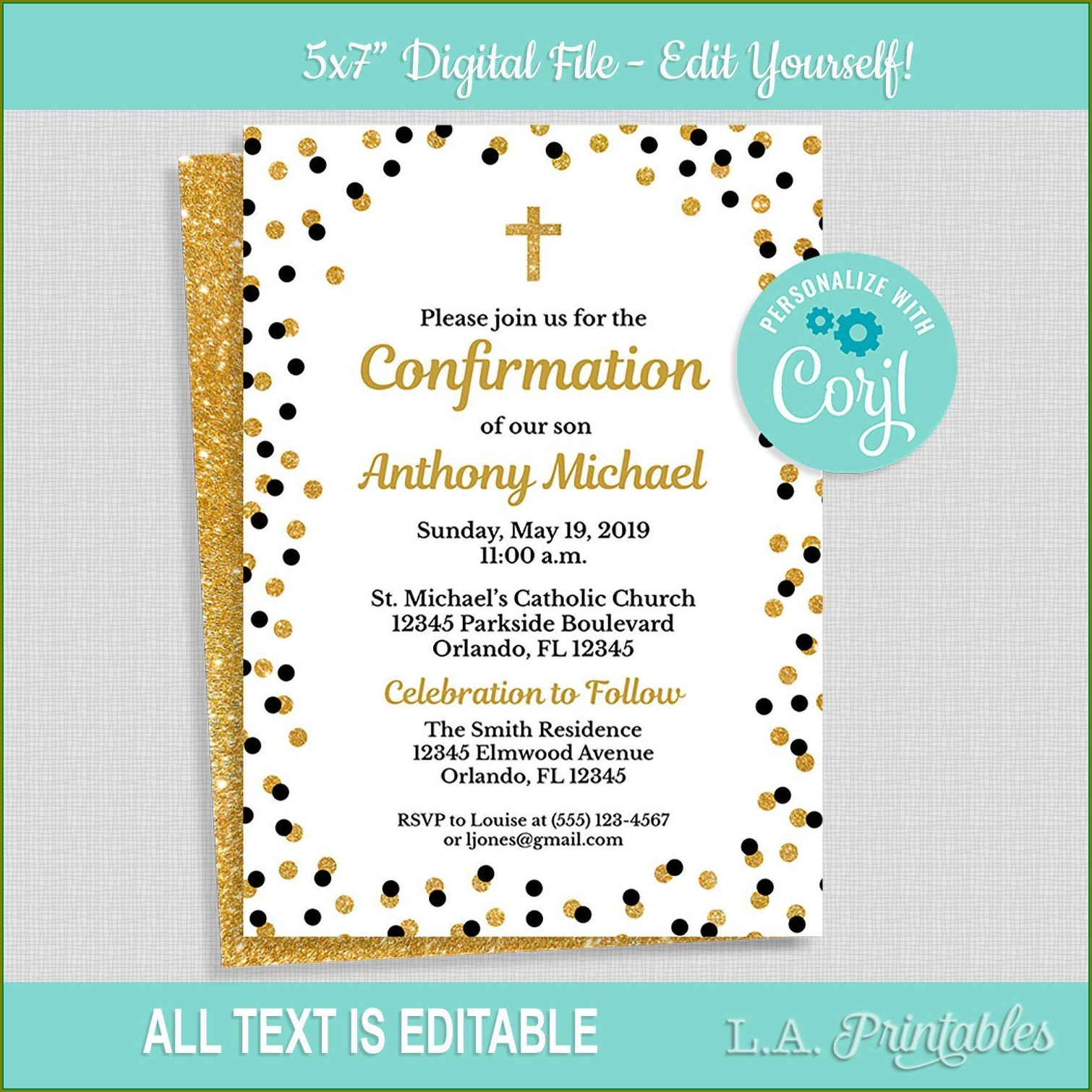 Editable Confirmation Invitation Template