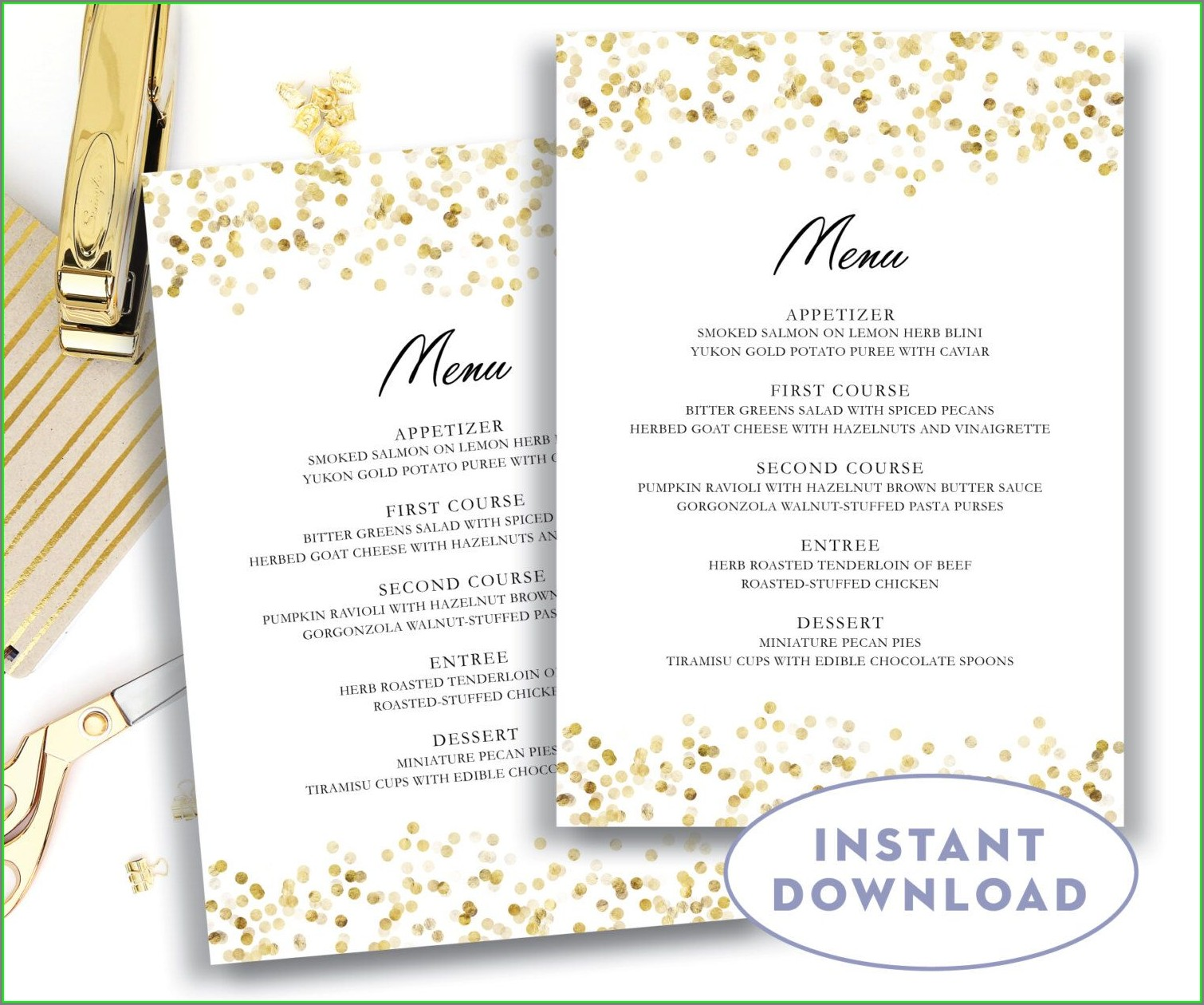 Editable Downloadable Free Printable Menu Templates