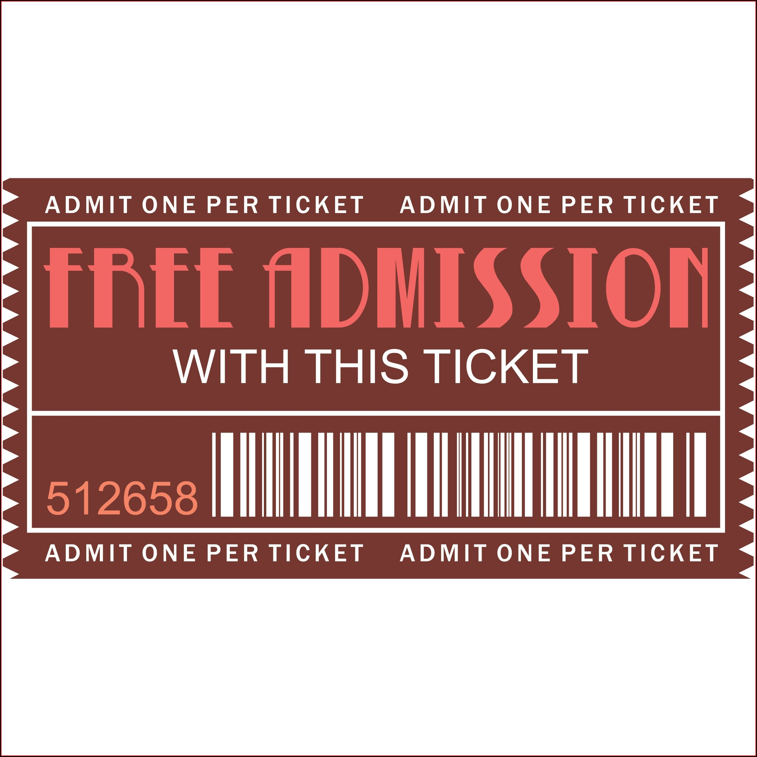 Editable Downloadable Ticket Template