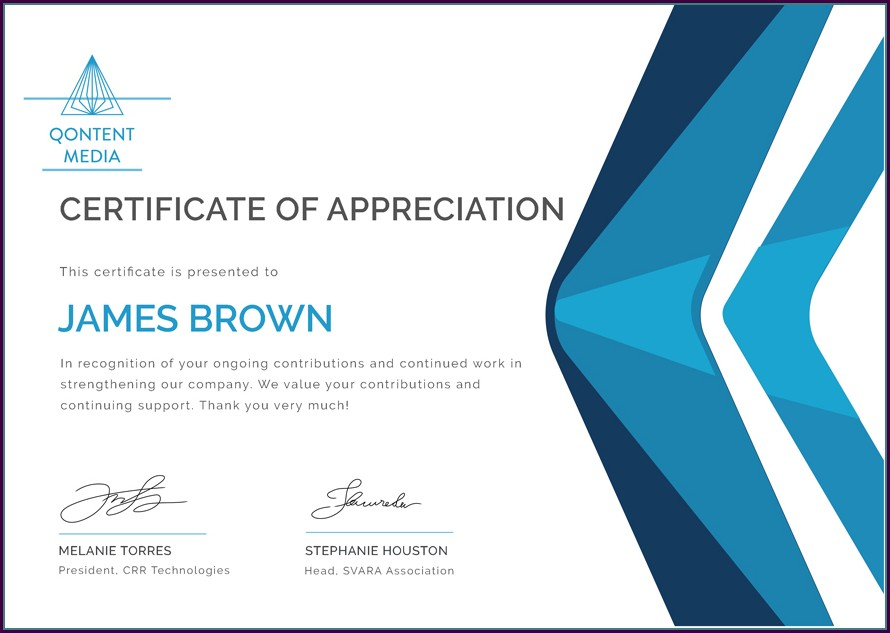 Editable Employee Appreciation Certificate Template