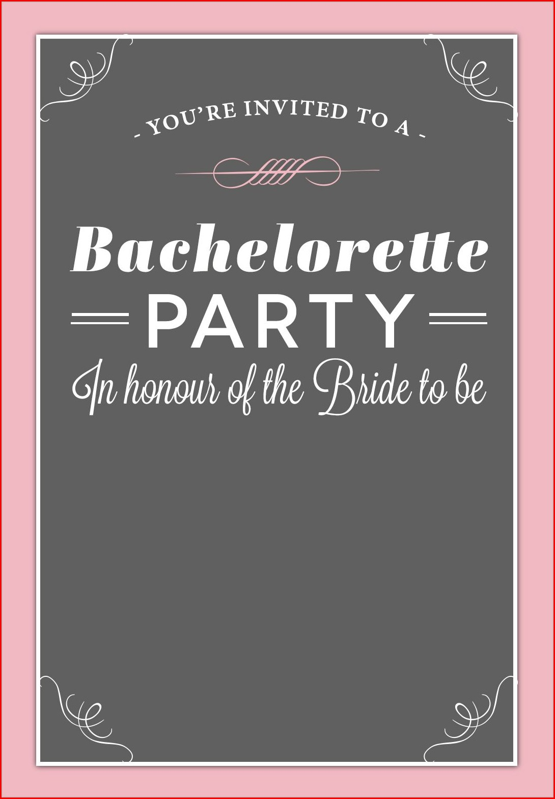 Editable Free Printable Bachelorette Party Invitations Templates
