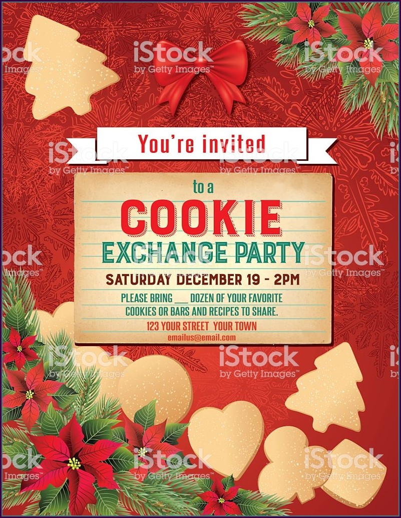 Editable Free Printable Christmas Invitation Templates