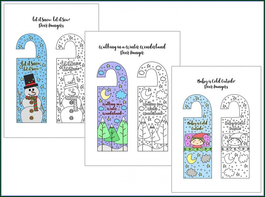 Editable Free Printable Door Hanger Template