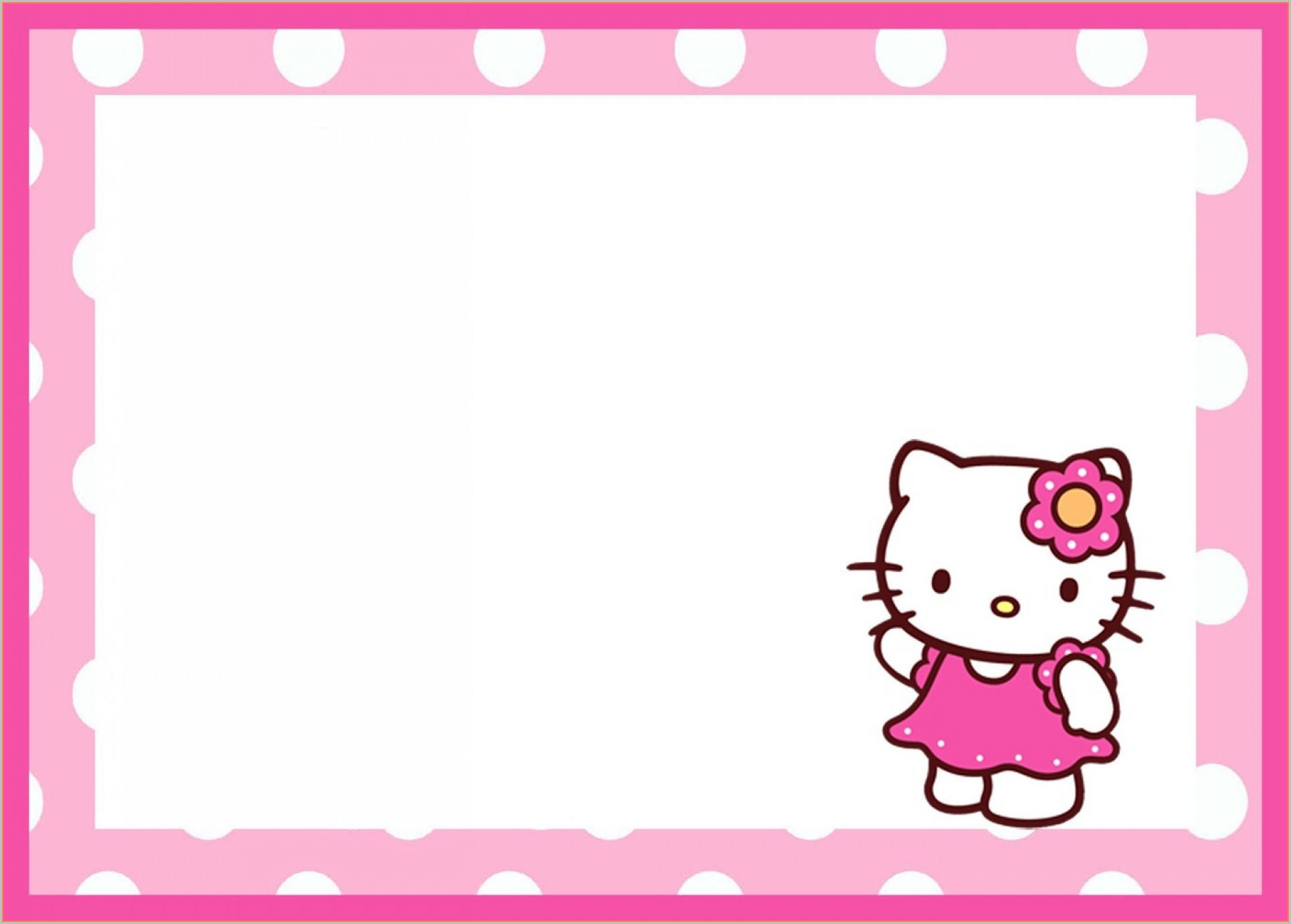 Editable Hello Kitty Invitation Template Blank