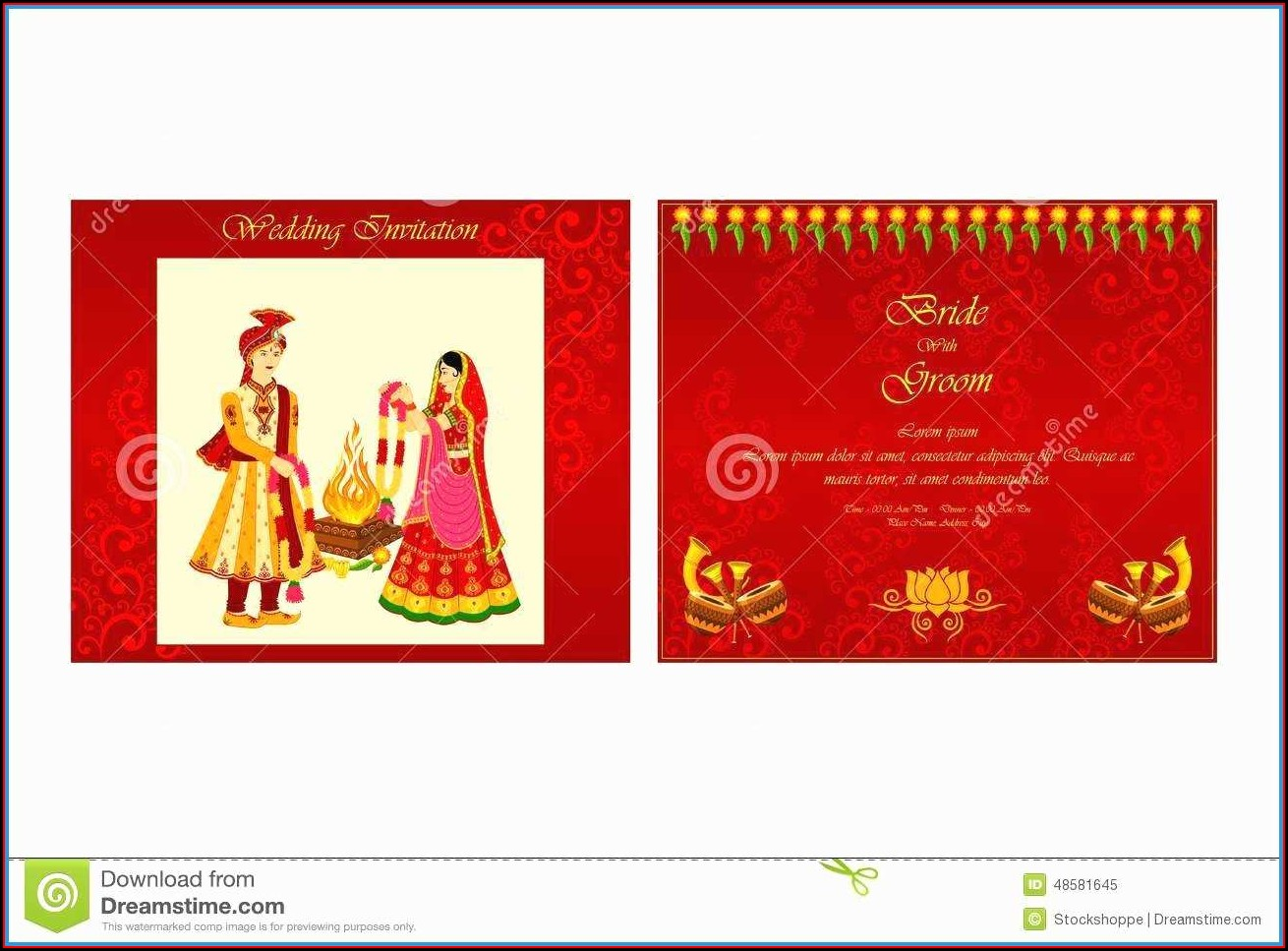 Editable Hindu Wedding Invitation Templates Free Download
