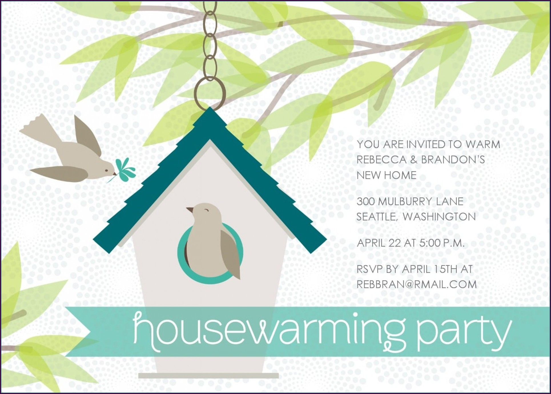 Editable Housewarming Invitation Template