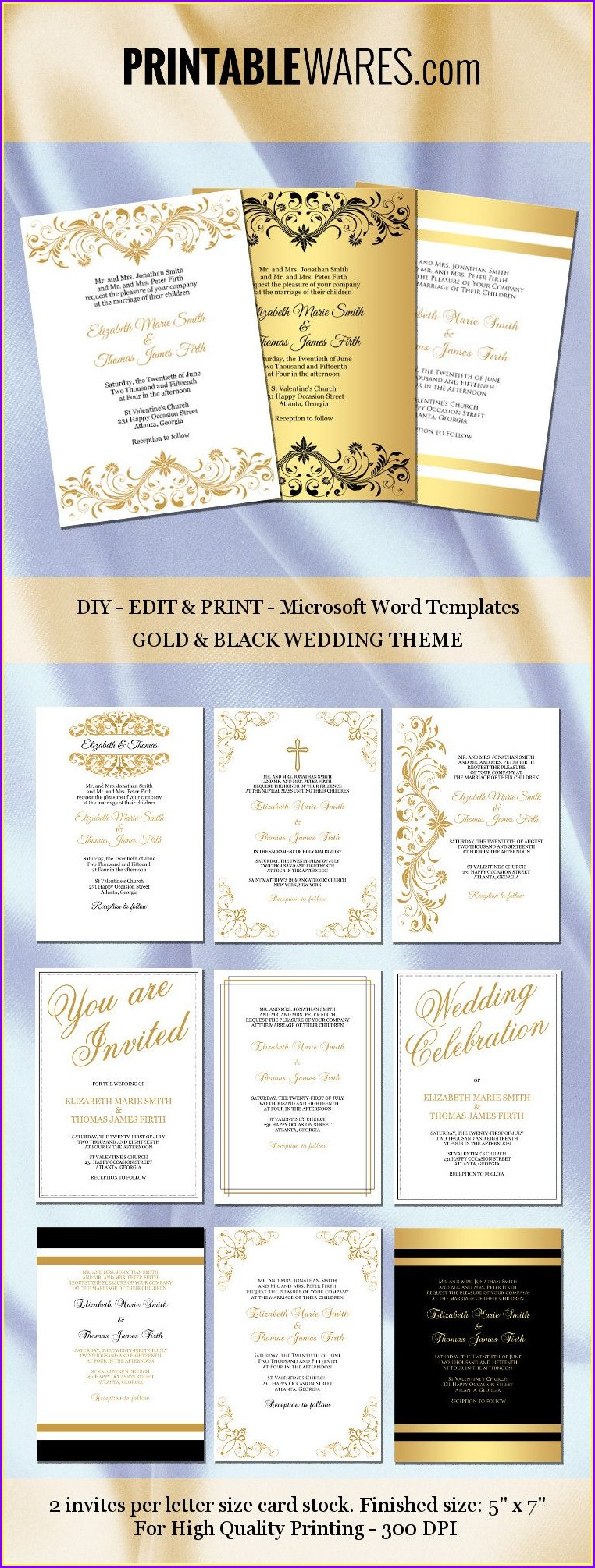 Editable Invitation Templates Word