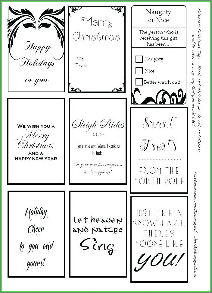 Editable Large Gift Tag Template