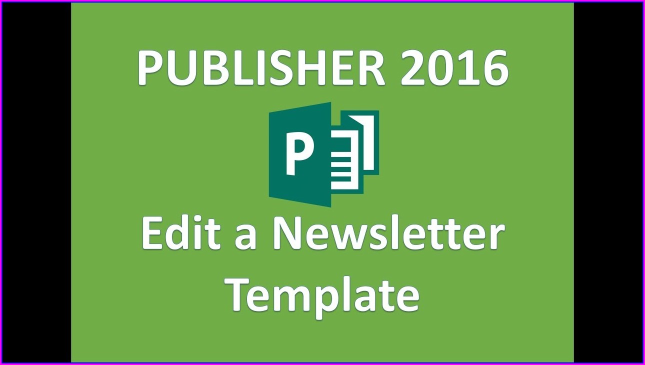 Editable Newsletter Templates Publisher
