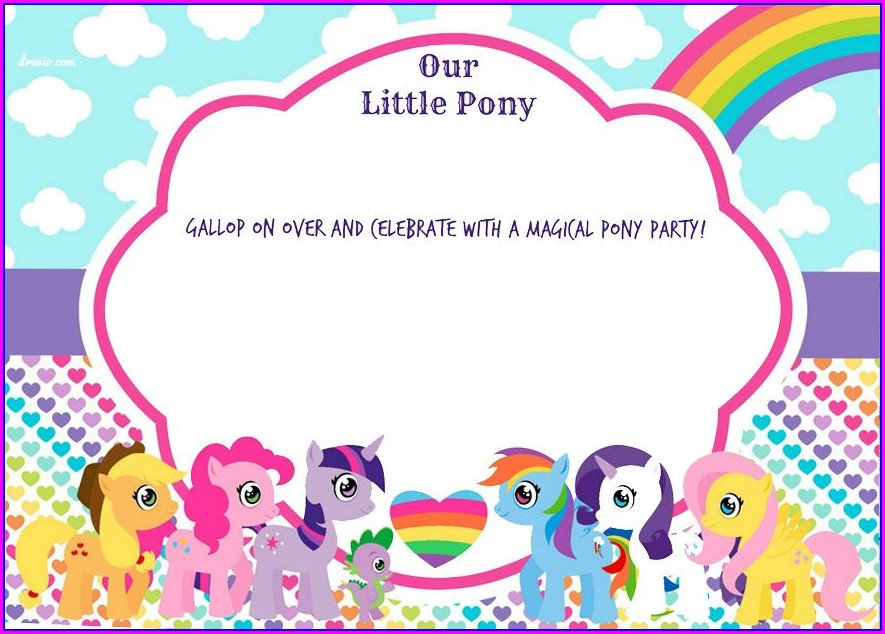 Editable Printable My Little Pony Invitation Template