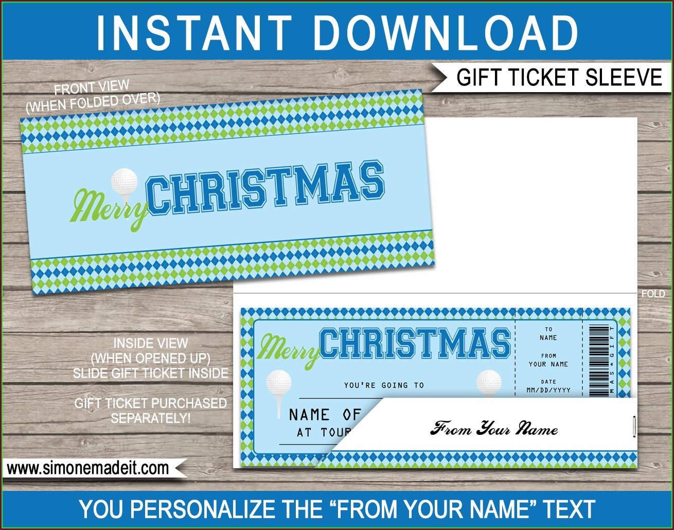 Editable Sports Ticket Template