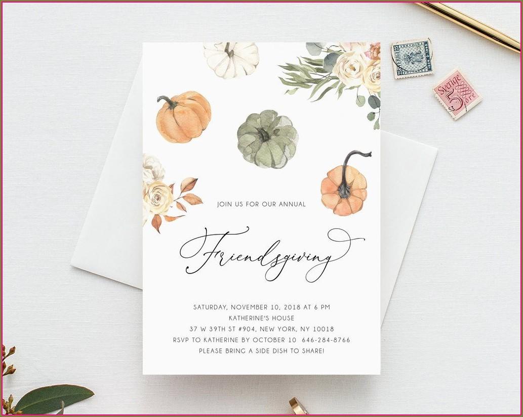 Editable Thanksgiving Dinner Invitation Template