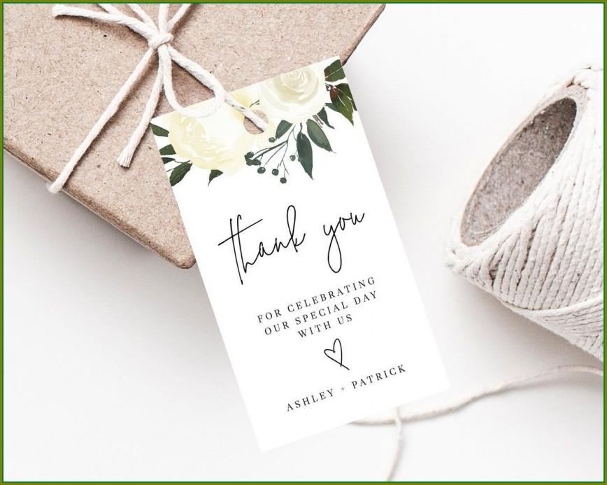 Editable Wedding Favor Tags Template Free