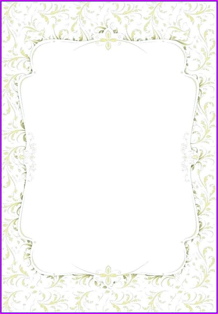 Elegant Blank Birthday Invitation Templates