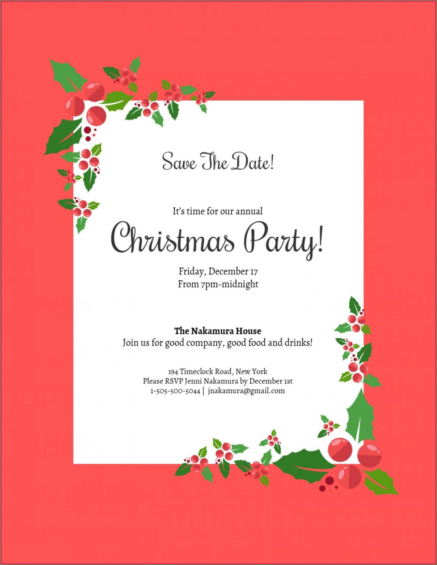 Elegant Christmas Party Invitation Template