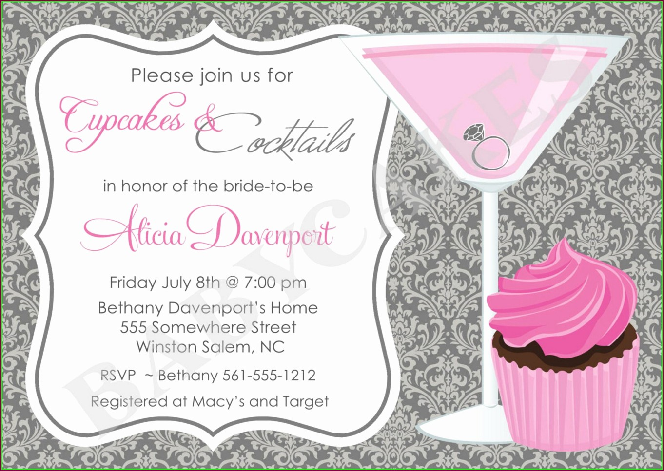 Elegant Cocktail Party Invitation Template