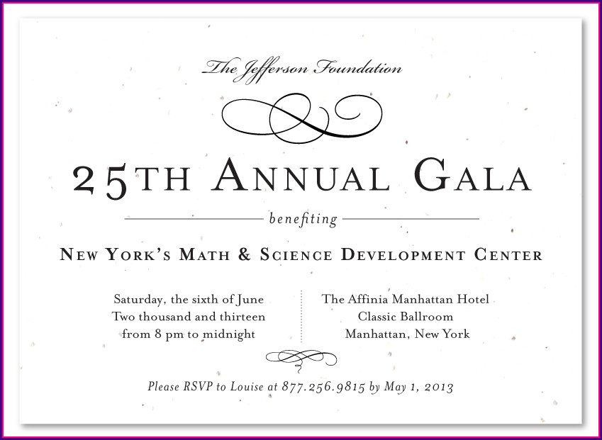 Elegant Gala Invitation Template