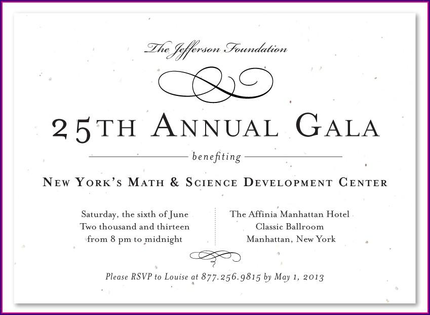 Elegant Gala Invitation Template