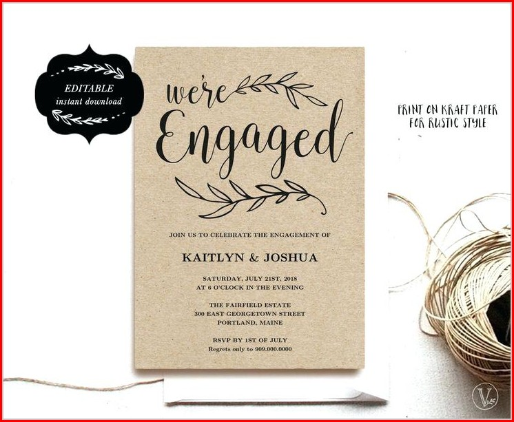 Engagement Party Free Editable Engagement Invitation Templates