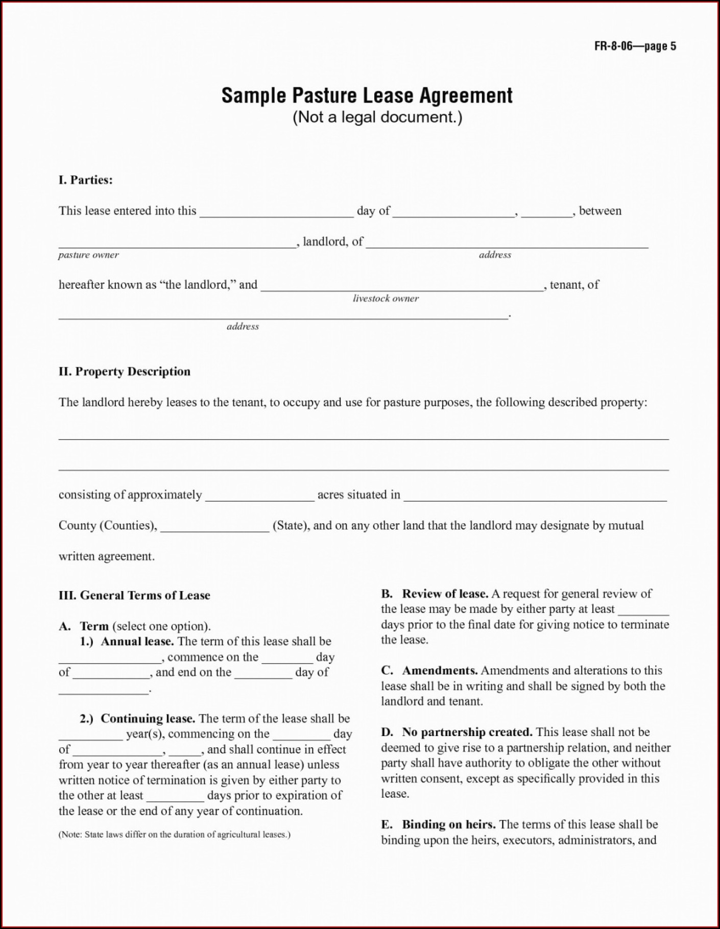 Equipment Rental Contract Template