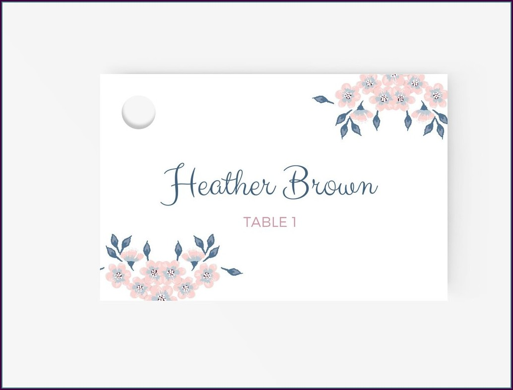 Escort Card Template Free