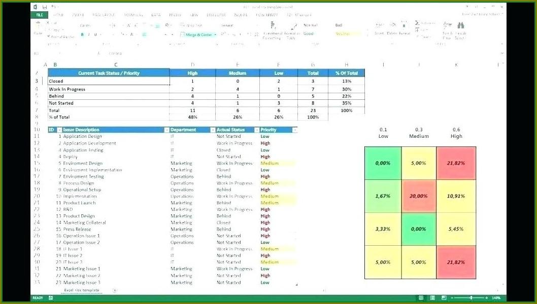 Excel Bank Compliance Risk Assessment Template