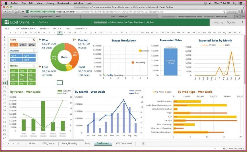 Excel Financial Dashboard Templates