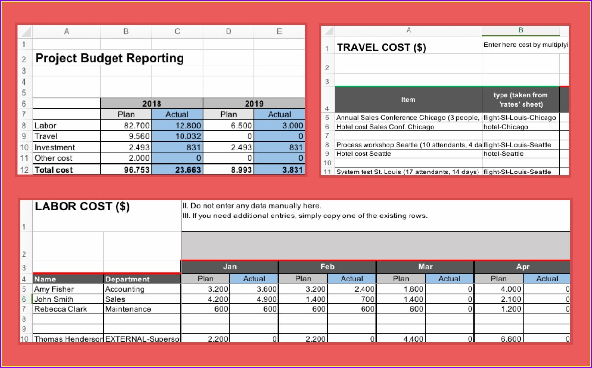Excel Format Project Report Template Excel