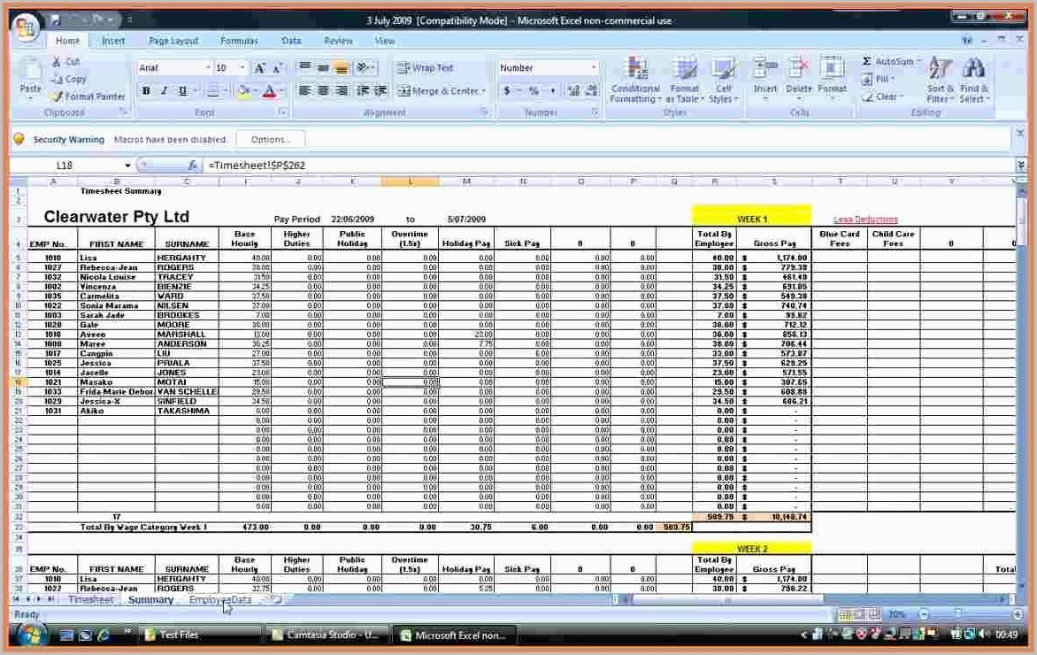 Excel Payroll Calculator Free Payroll Template