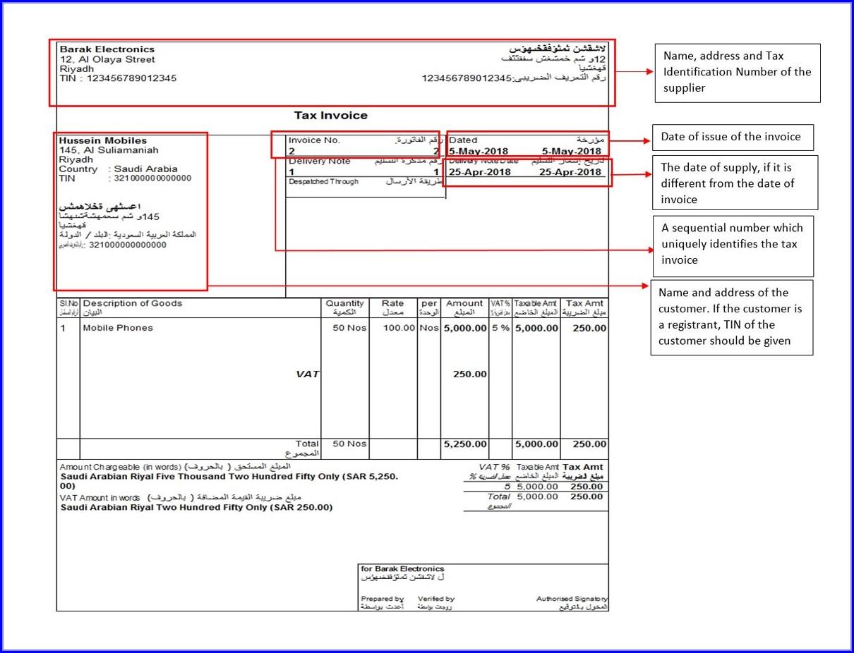 Excel Tax Invoice Template Australia