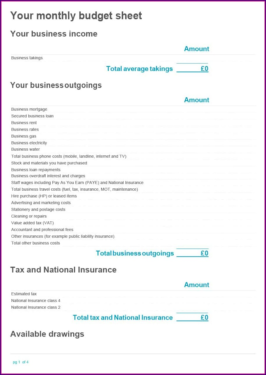 Expense Form Templates